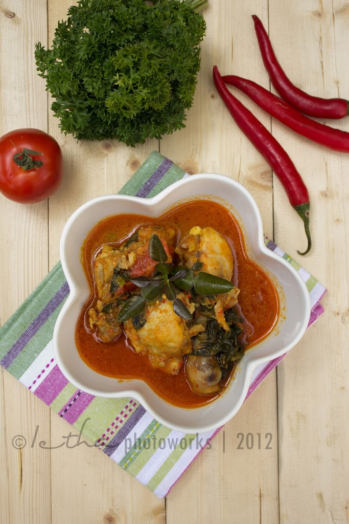 Ayam Woku Belanga (Chicken with Spicy Chilli Woku Sauce)